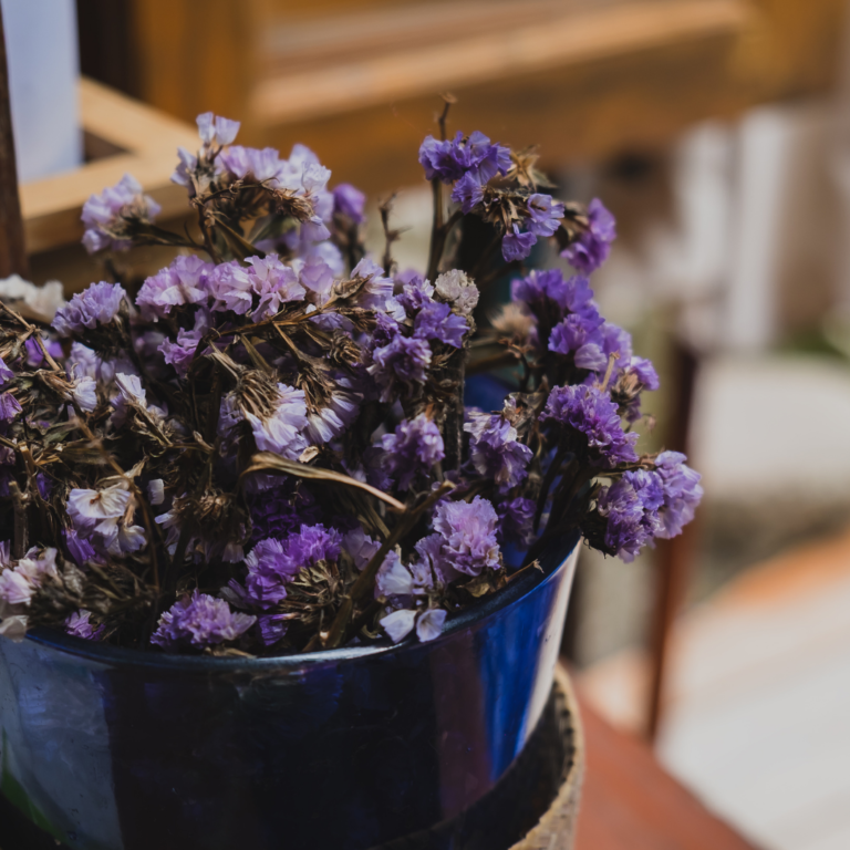 Decorando com Flores Secas