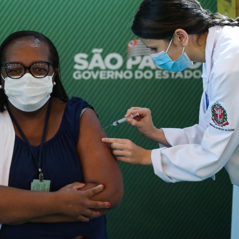 Primeira Pessoa Vacinada no Brasil